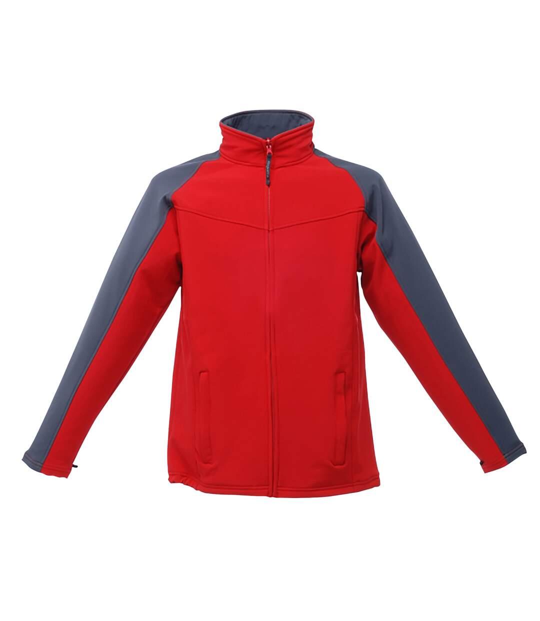 Regatta Uproar Mens Softshell Wind Resistant Fleece Jacket (Classic Red/Seal Grey) - UTRG1480
