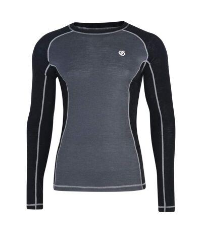 Dare2b Mens Advanced Wool Base Layer Top and Bottoms Set (Black/Ebony) - UTRG4799
