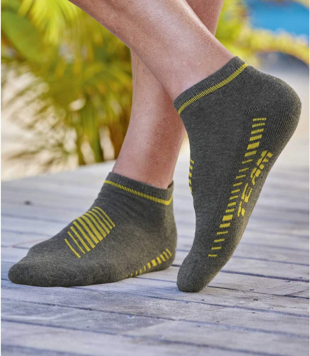 Sada 4 párů kotníkových ponožek Team Sport