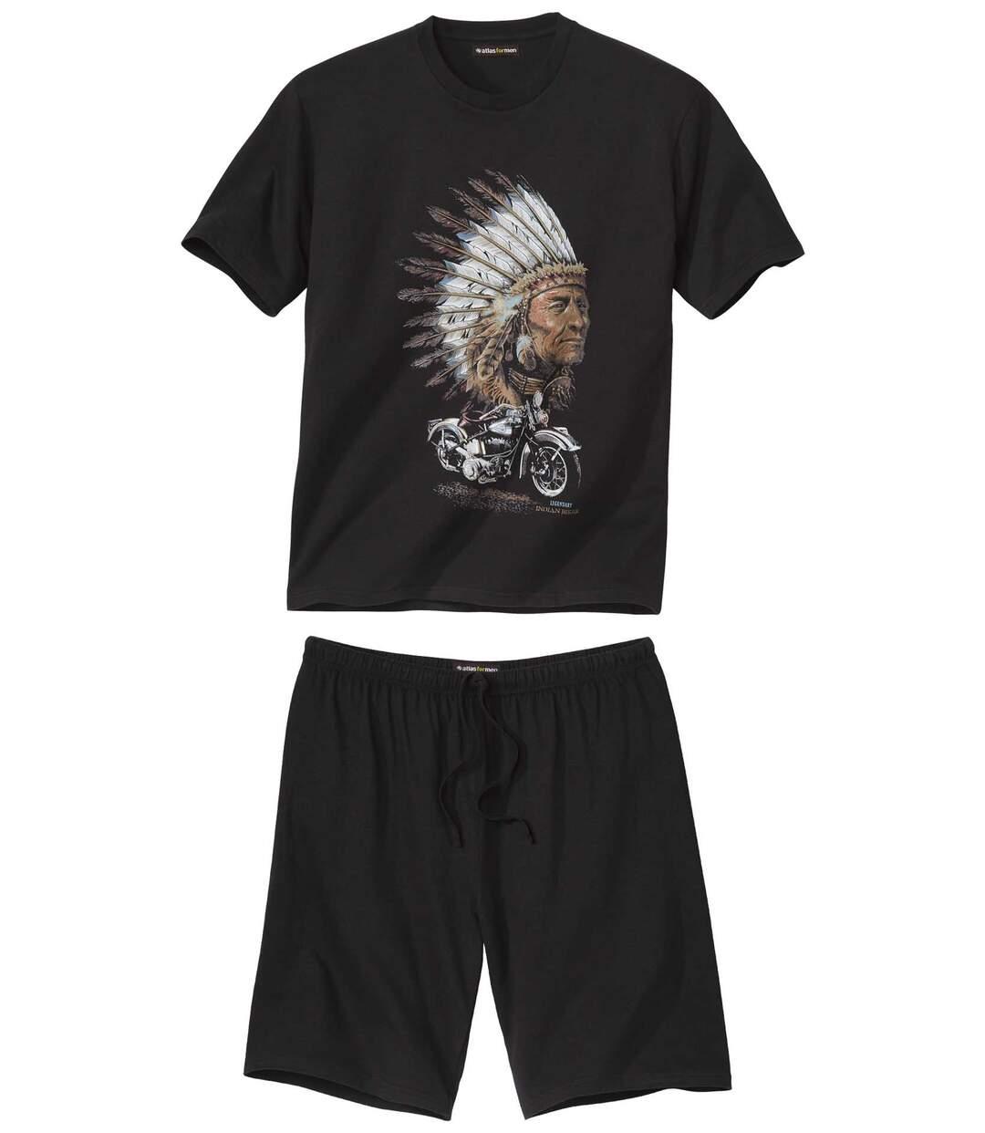 Krátké pyžamo Indian Biker