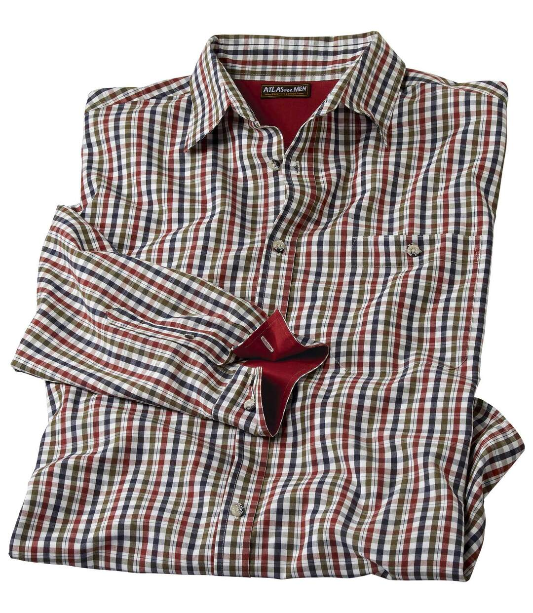 Koszula z popeliny w kratę Vichy