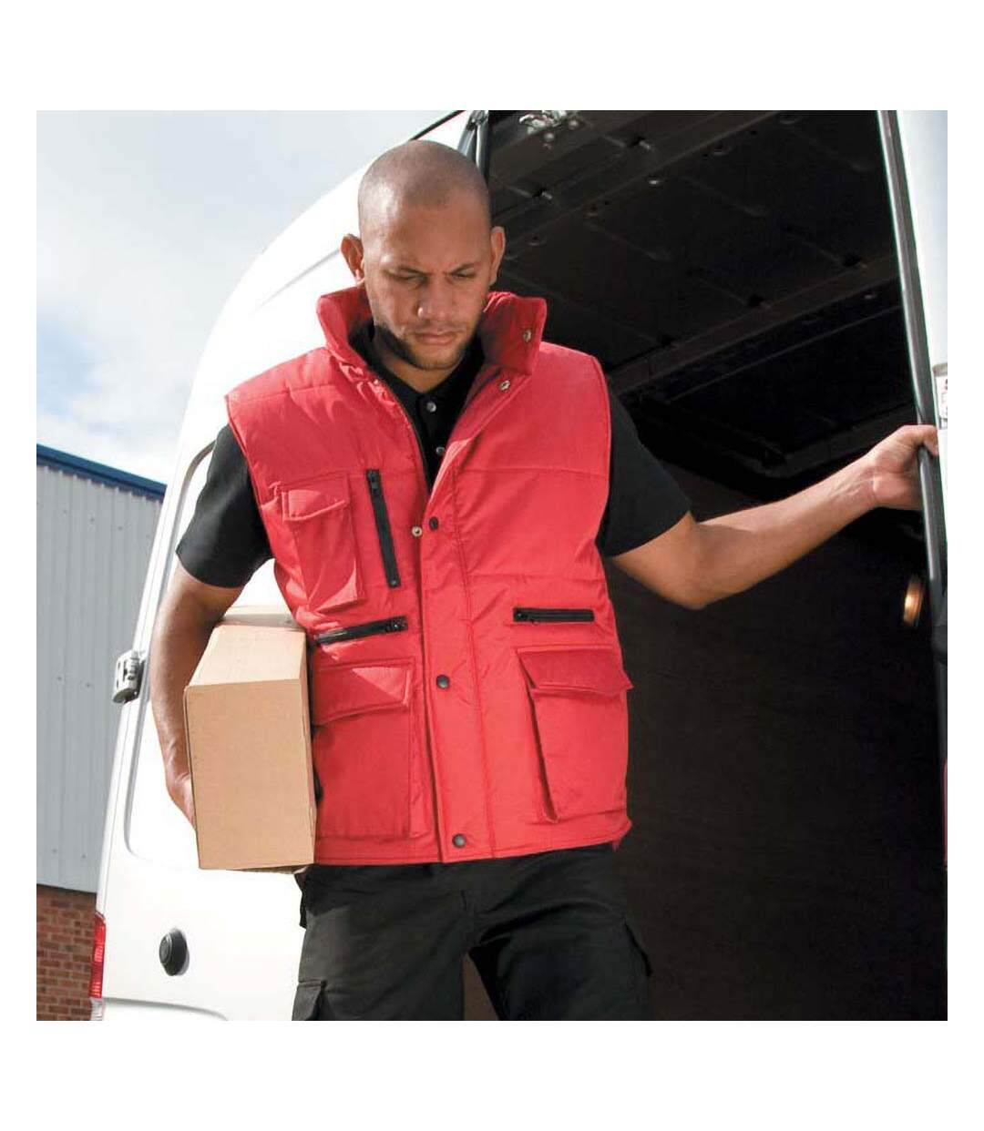 Result Mens Lance Bodywarmer / Gilet (Windproof & Showerproof) (Red) - UTRW3213