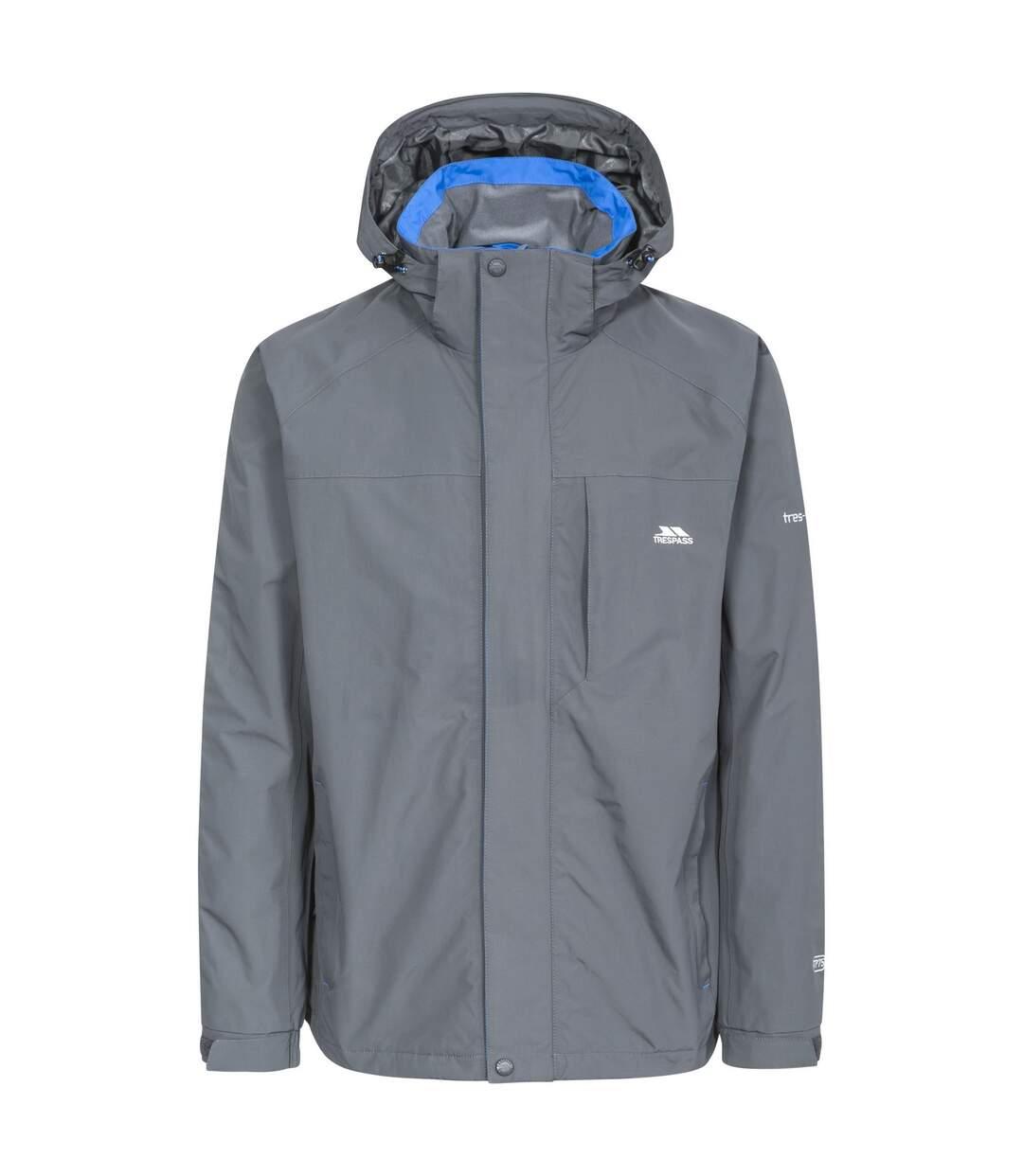 Trespass Mens Edwards II Waterproof Jacket (Carbon) - UTTP4118