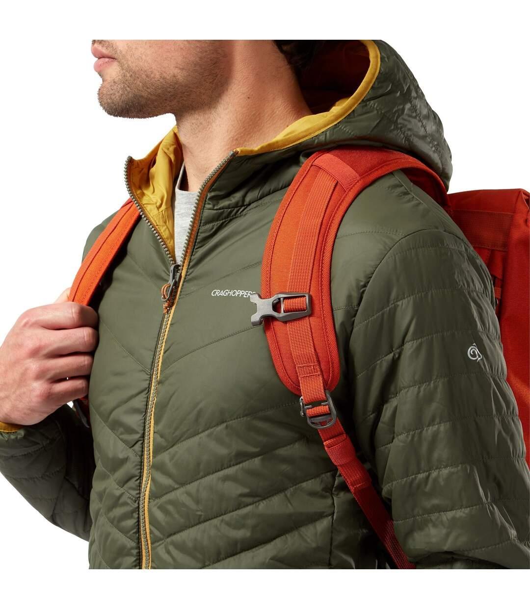 Craghoppers Mens Compresslite V Hooded Padded Jacket (Parka Green/Dark Butterscotch) - UTCG1473