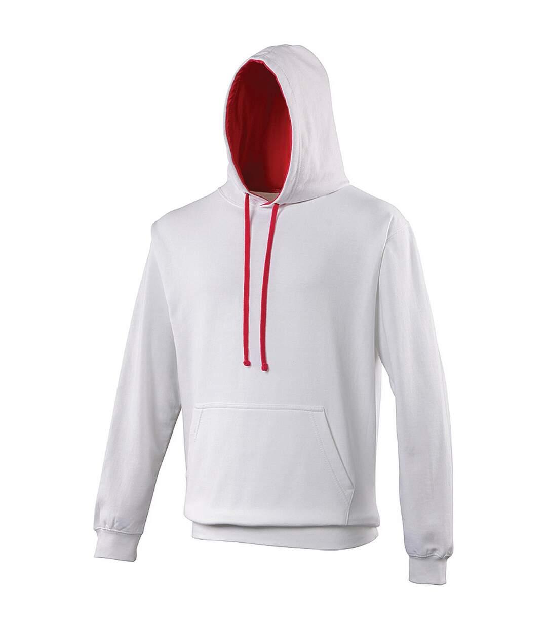 Awdis Varsity Hooded Sweatshirt / Hoodie (Sapphire Blue / Heather Grey) - UTRW165