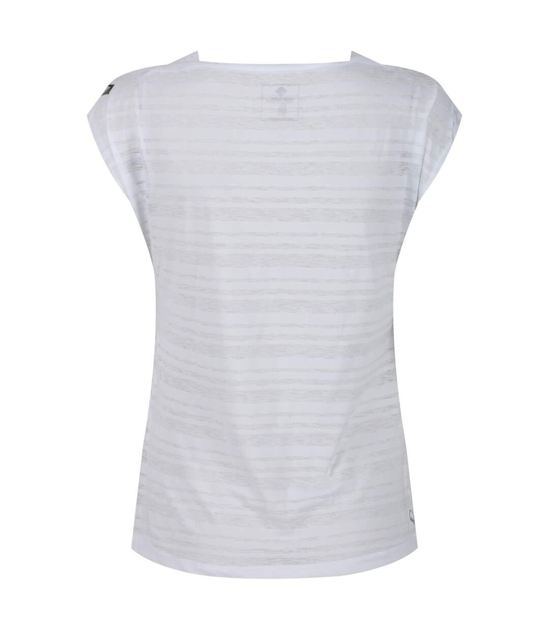 Regatta - T-Shirt Manches Courtes Limonite - Femme (Blanc) - UTRG4248