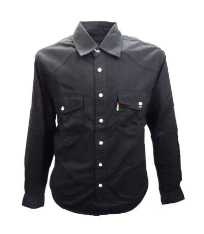 Duke Mens Kingsize Western Denim Shirt (Black) - UTDC103
