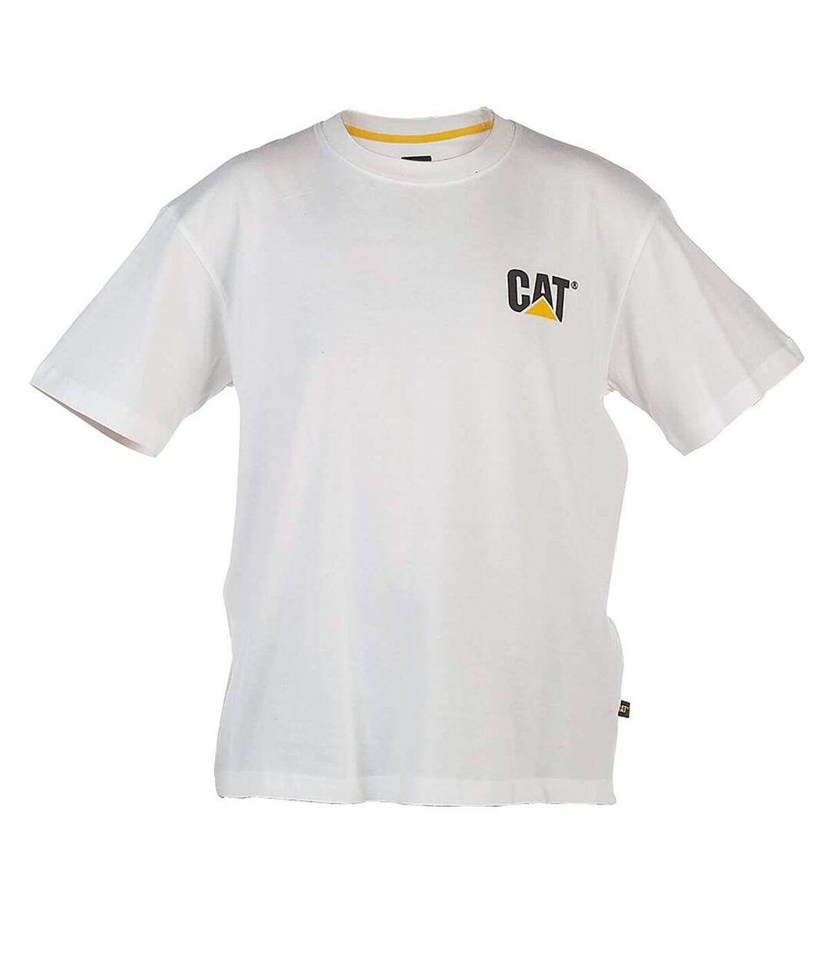 Caterpillar C324 Trademark Tee-Shirt / Mens T-Shirts (White) - UTFS208