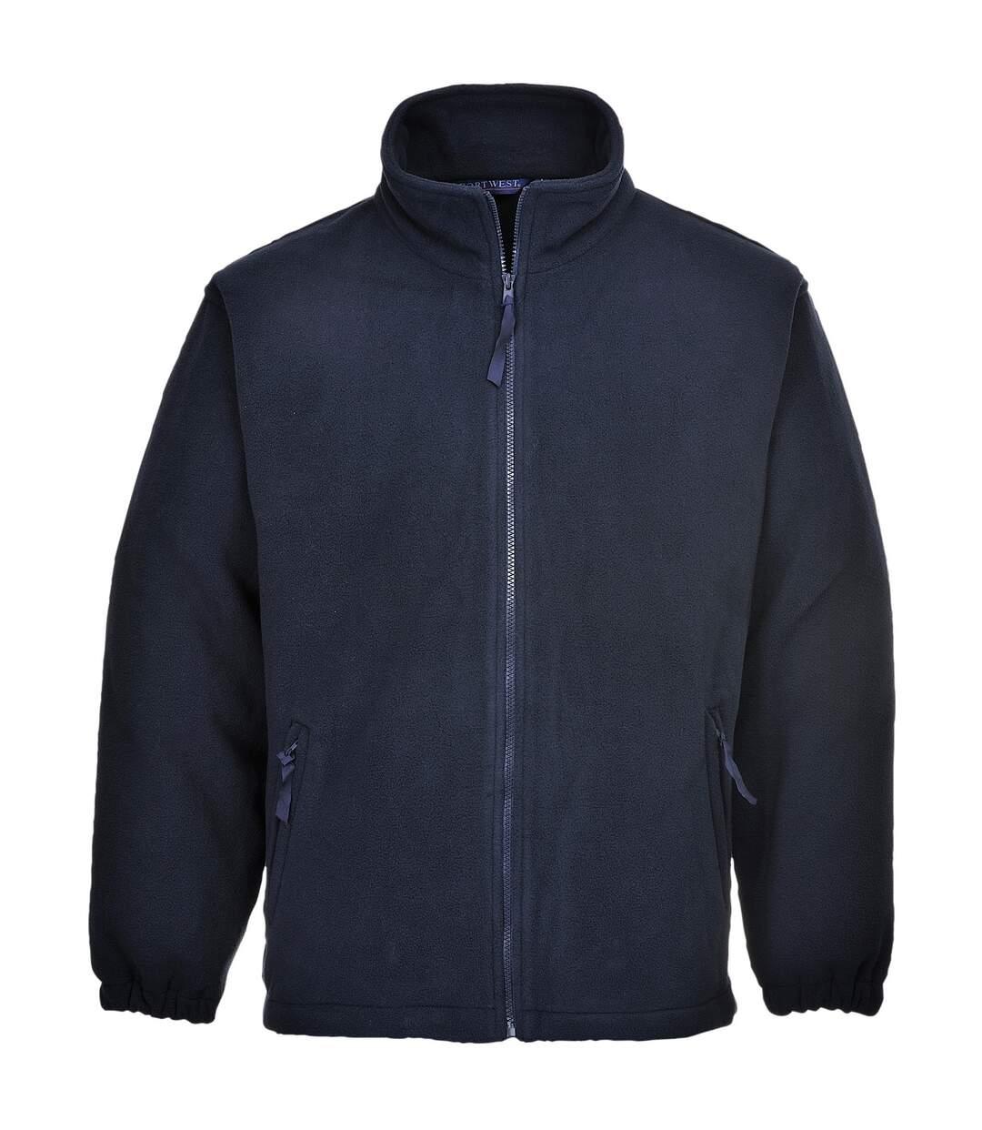 Portwest Mens Aran Full Zip Fleece Top (Black) - UTRW4363