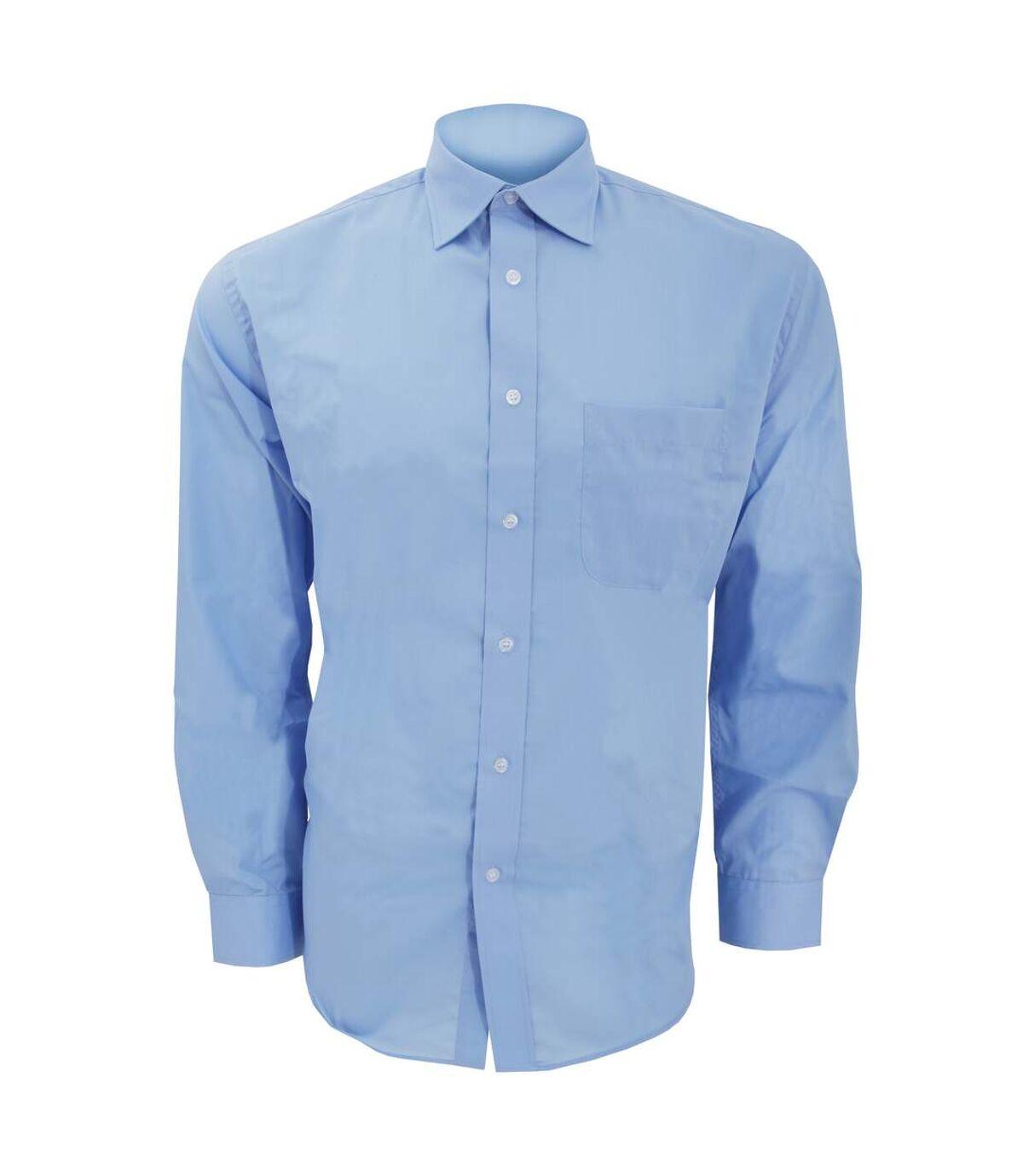 Kustom Kit Mens Long Sleeve Business Shirt (Light Blue) - UTBC593