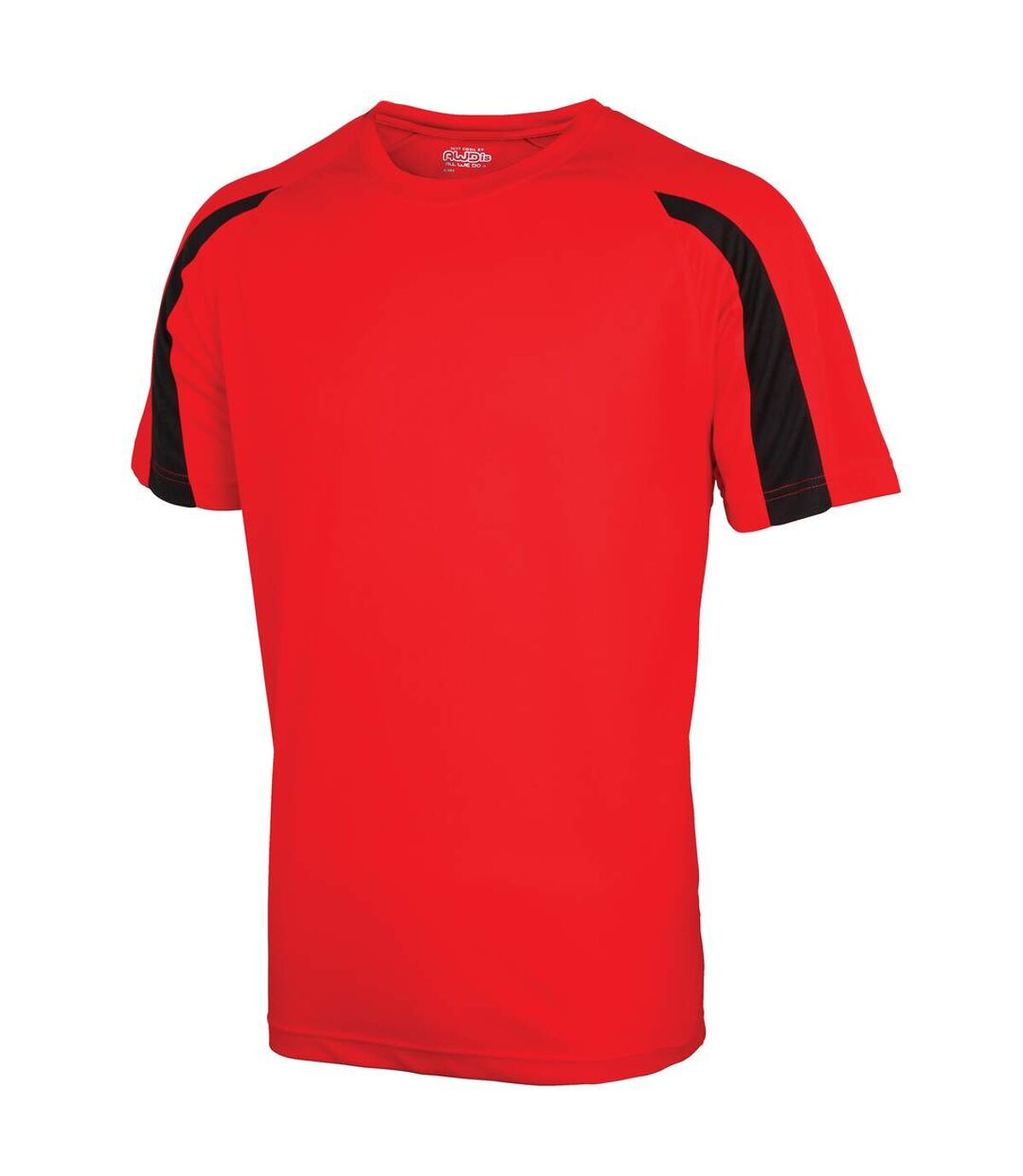 Just Cool Mens Contrast Cool Sports Plain T-Shirt (Arctic White/Sapphire Blue) - UTRW685