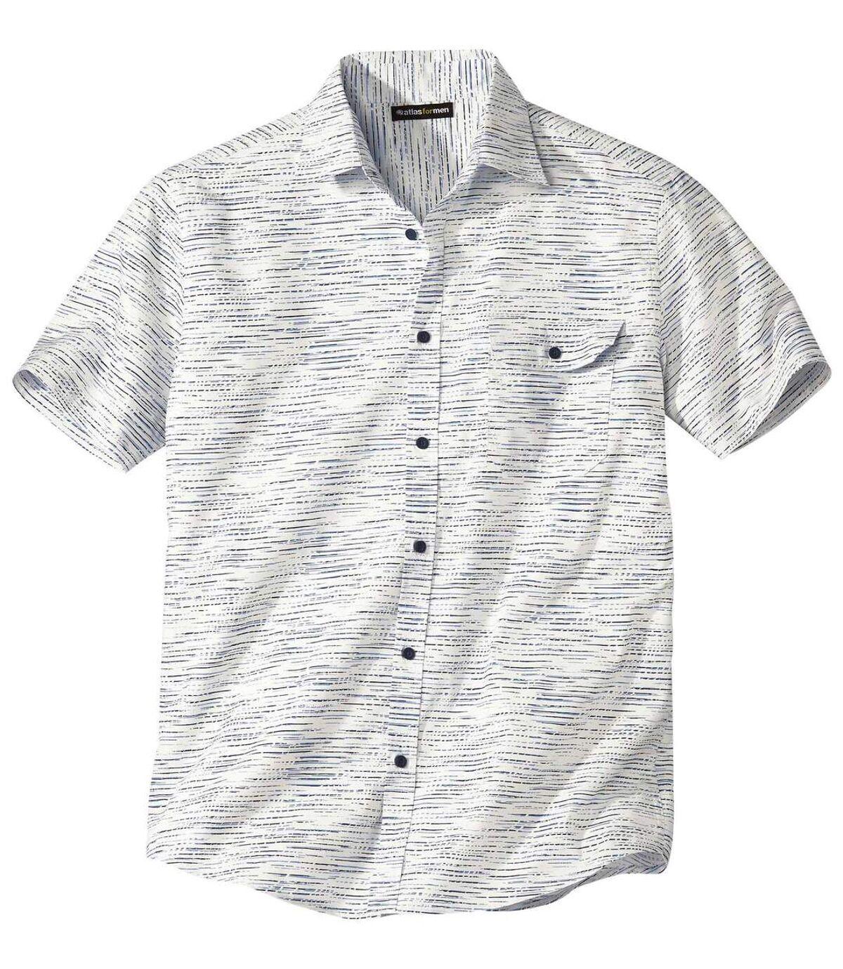 Gevlamd stretch overhemd Atlas For Men