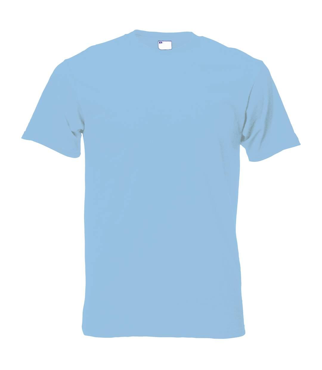 Mens Short Sleeve Casual T-Shirt (Light Blue) - UTBC3904