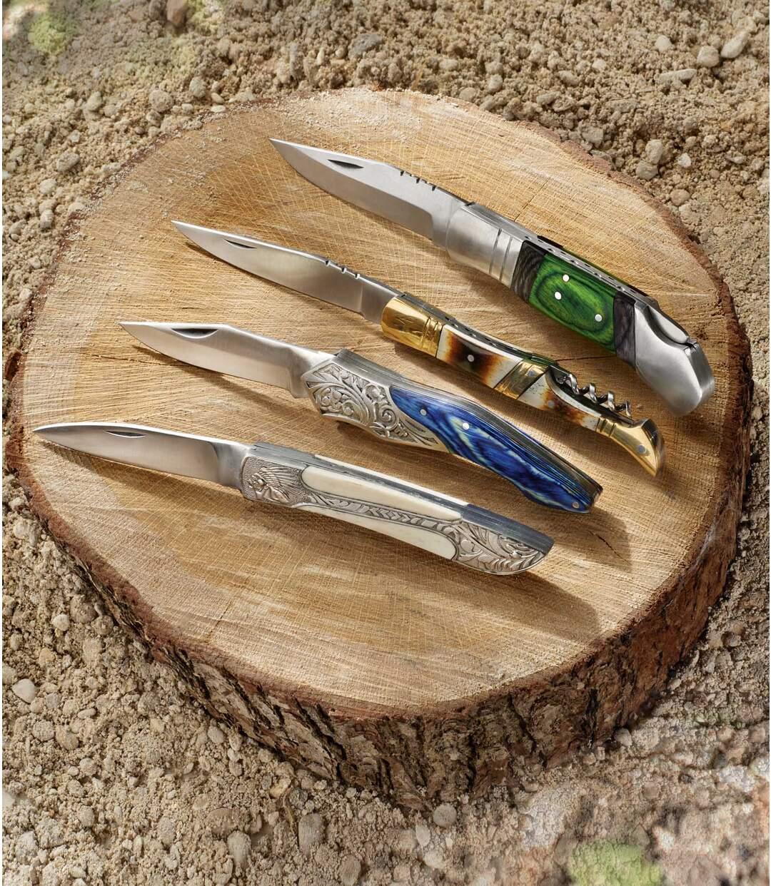 Nôž zkosti agravírovaného kovu Atlas For Men