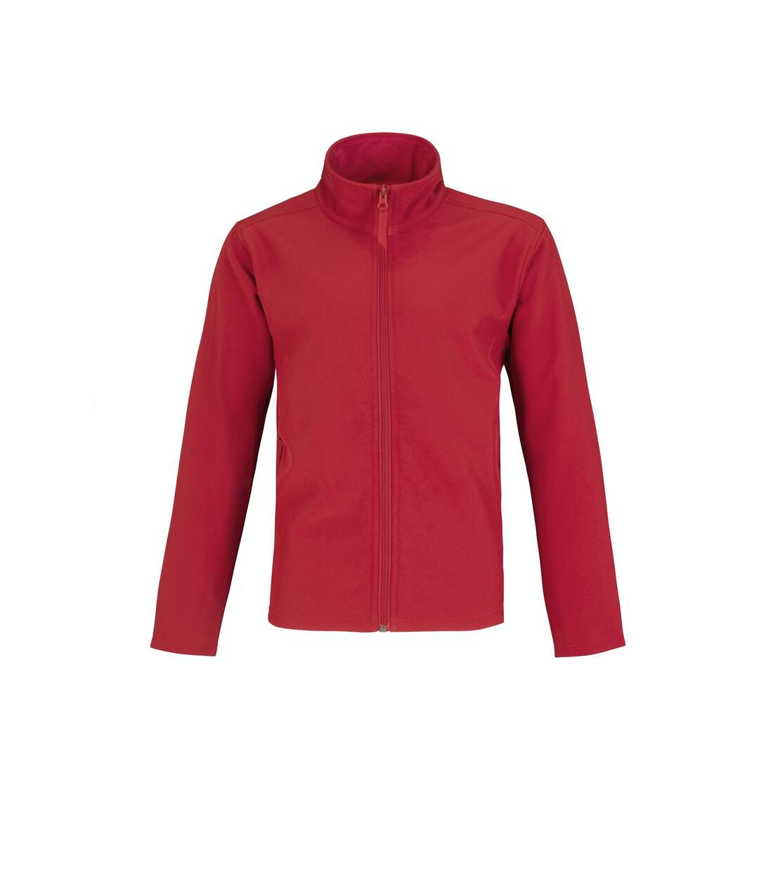 B&C Mens Two Layer Water Repellent Softshell Jacket (Red/ Grey) - UTRW4835