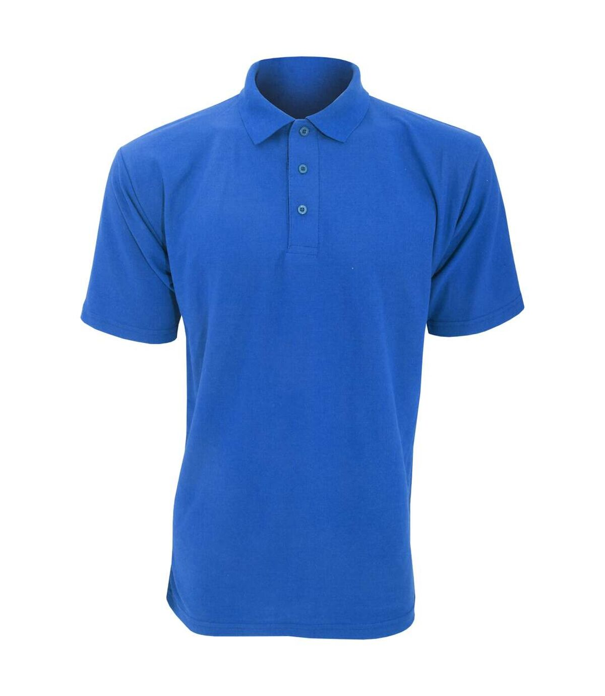 UCC 50/50 Mens Plain Piqué Short Sleeve Polo Shirt (Royal) - UTBC1194
