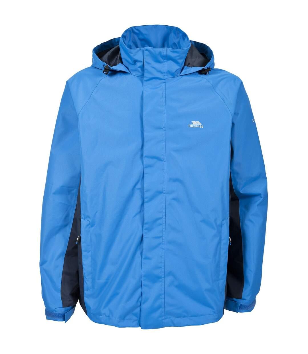 Trespass Mens Rogan II Waterproof Jacket (Bright Blue) - UTTP3333