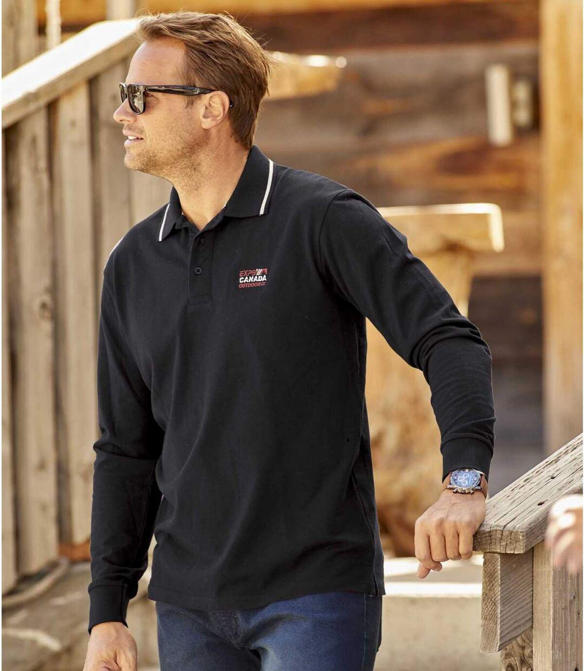 2er-Pack Poloshirts Canada in Piqué-Qualität Atlas For Men