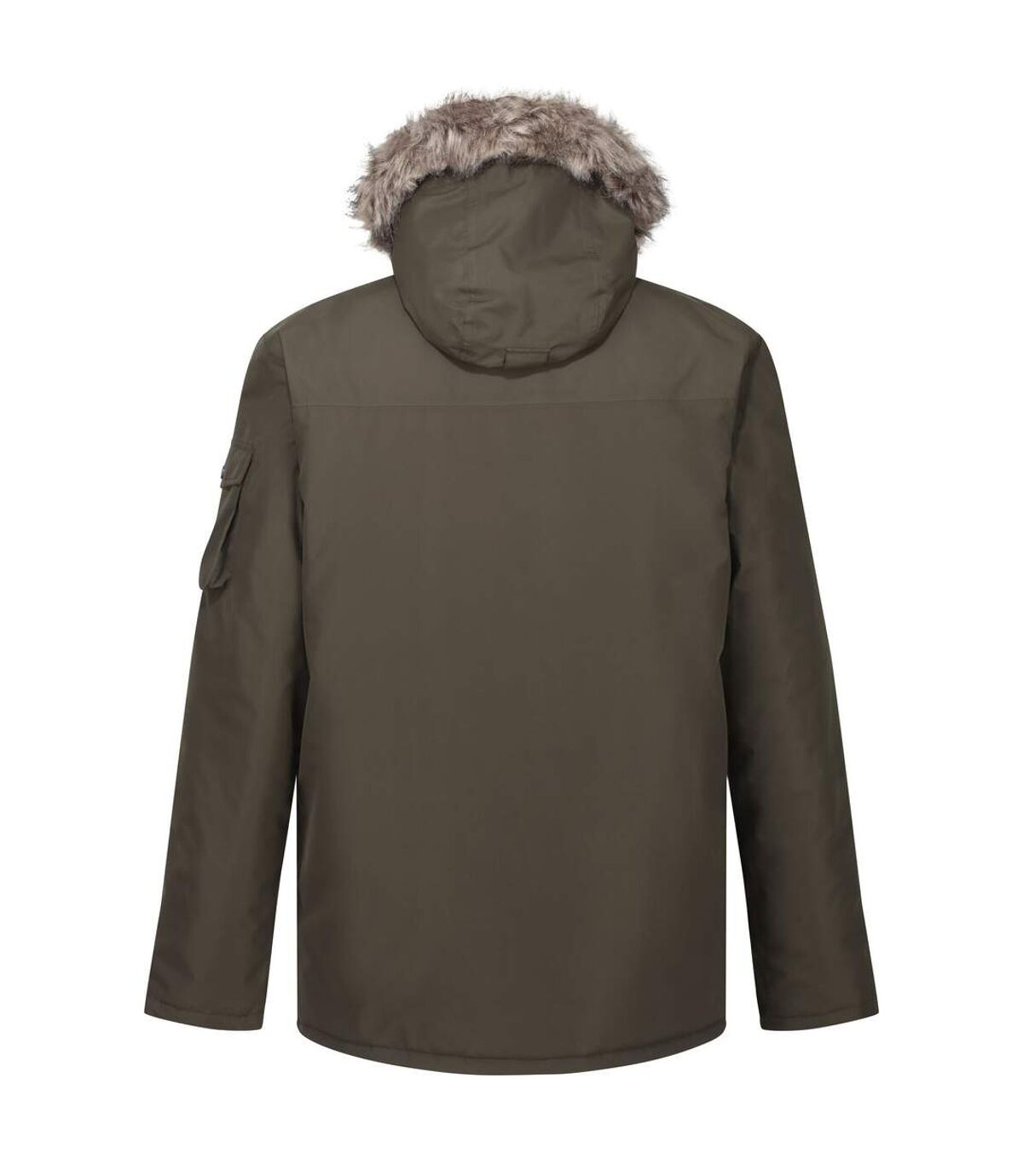 Regatta Mens Salinger II Faux Fur Insulated Parka (Dark Khaki) - UTRG5301