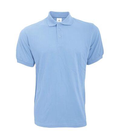 B&C Safran Mens Polo Shirt / Mens Short Sleeve Polo Shirts (Sky Blue) - UTBC103