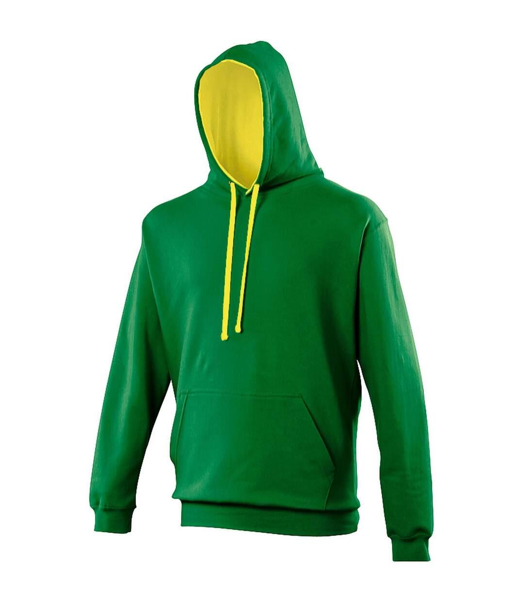 Awdis Varsity Hooded Sweatshirt / Hoodie (Royal / Sun Yellow) - UTRW165