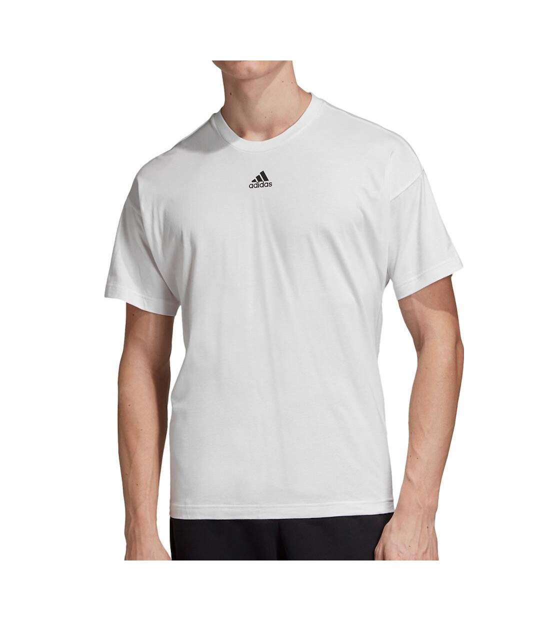 T-shirt Blanc Homme Adidas 3 stripes