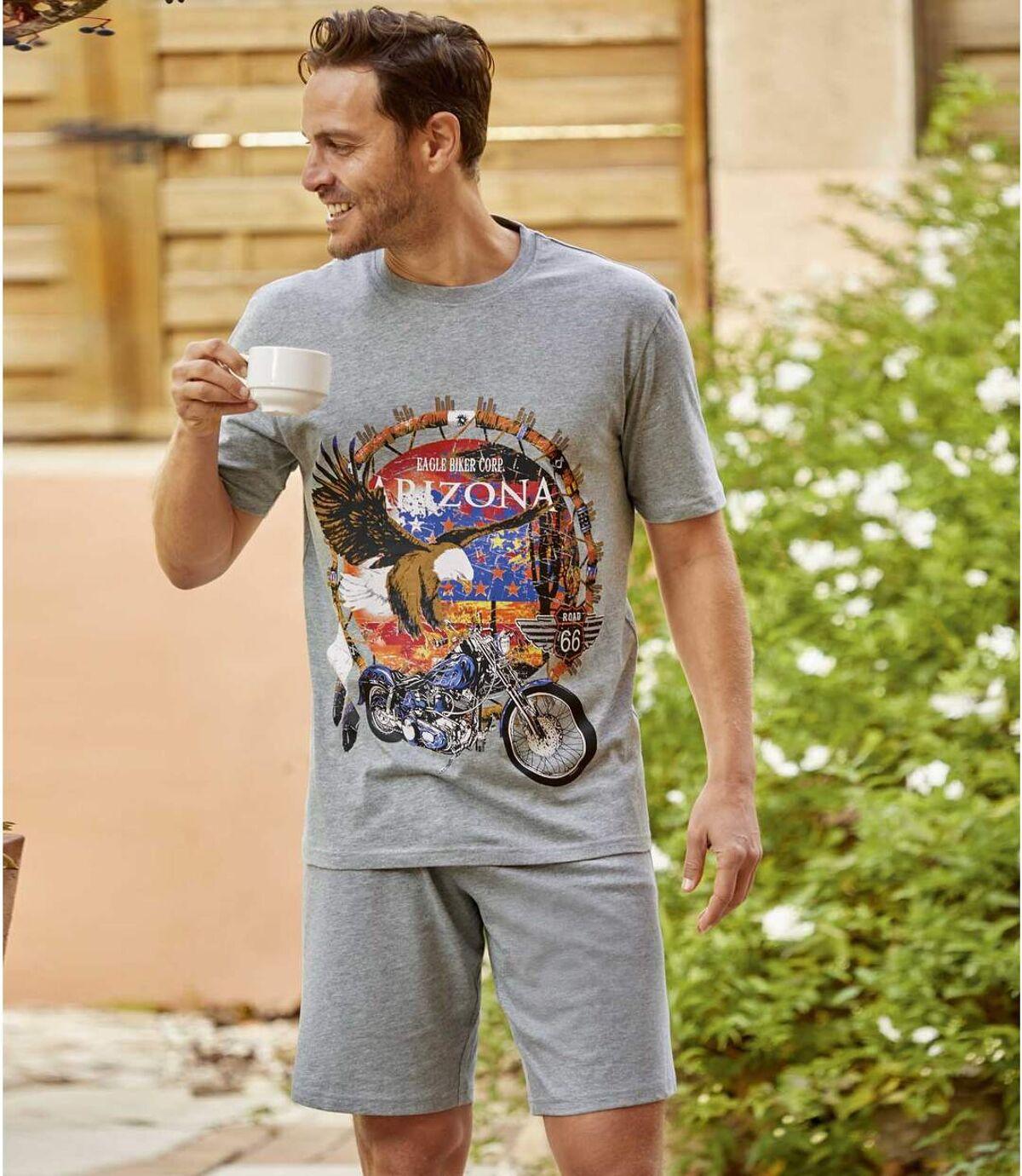 Krátke pyžamo Motorkár Atlas For Men