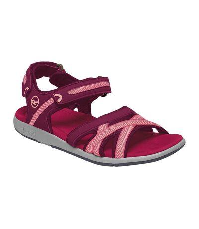 Regatta Womens/Ladies Santa Clara Sandals (Beetroot/Mellow Rose) - UTRG4132
