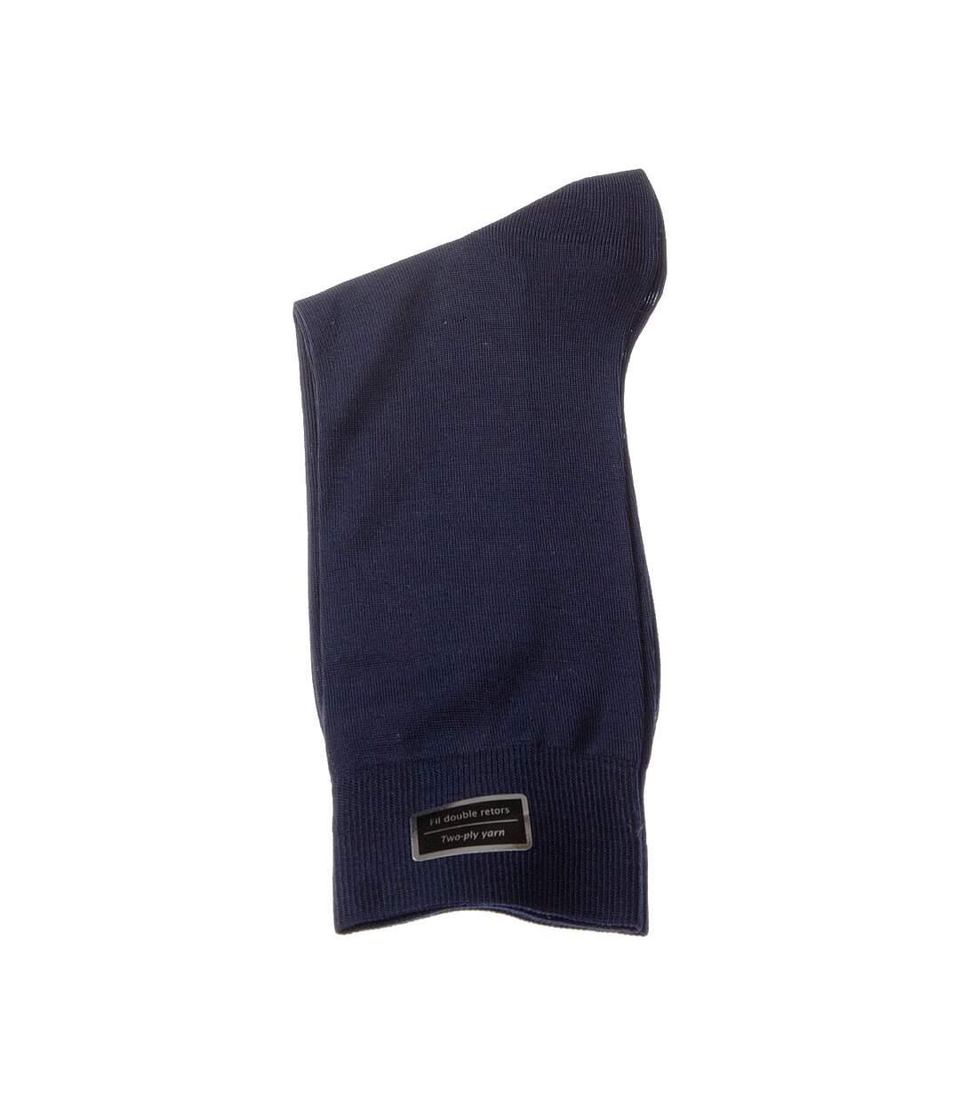 Dégagement Chaussette Niveau mollet 1 paire Coutures plates Sans bouclette Fine Fil d\'écosse Bleu marine Excellence dsf.d455nksdKLFHG