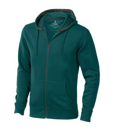 Elevate Mens Arora Hooded Full Zip Sweater (Forest Green) - UTPF1850