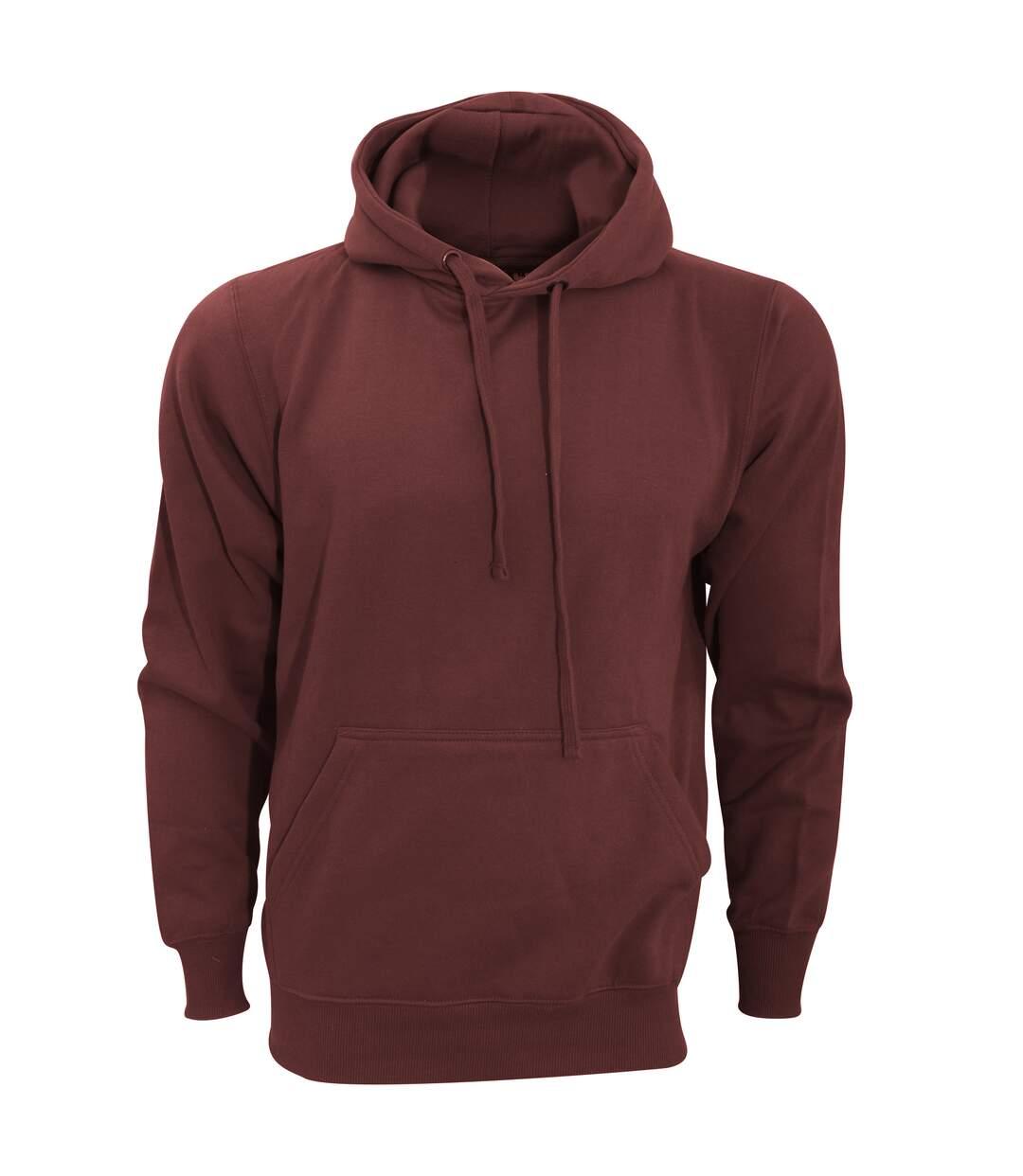FDM Unisex Tagless Hooded Sweatshirt / Hoodie (Burgundy) - UTBC2031