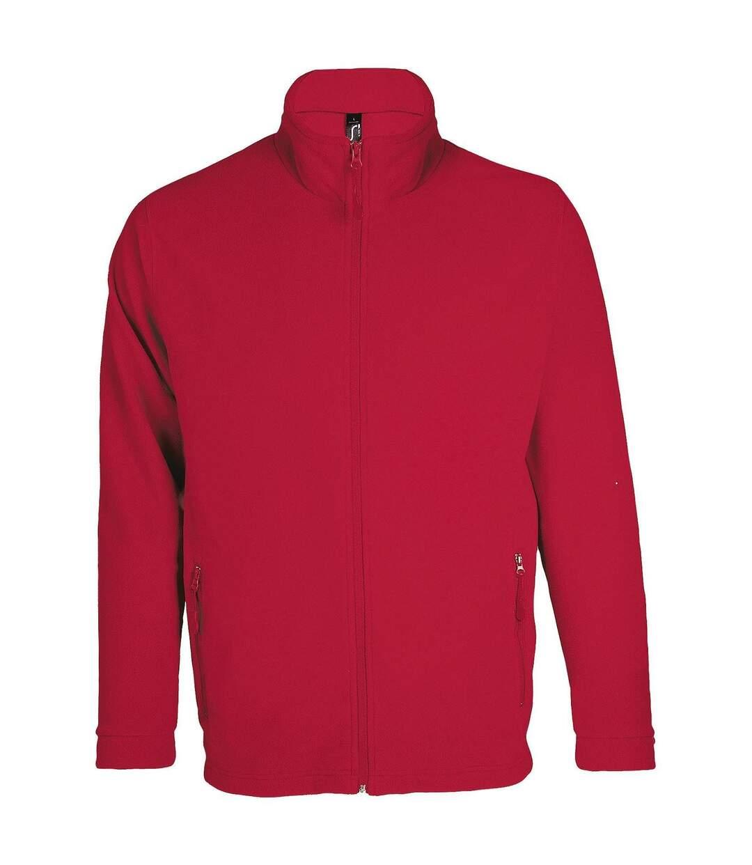 Veste micropolaire zippée homme - 00586 - rouge