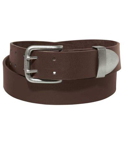 Men's Brown Split Leather Belt
