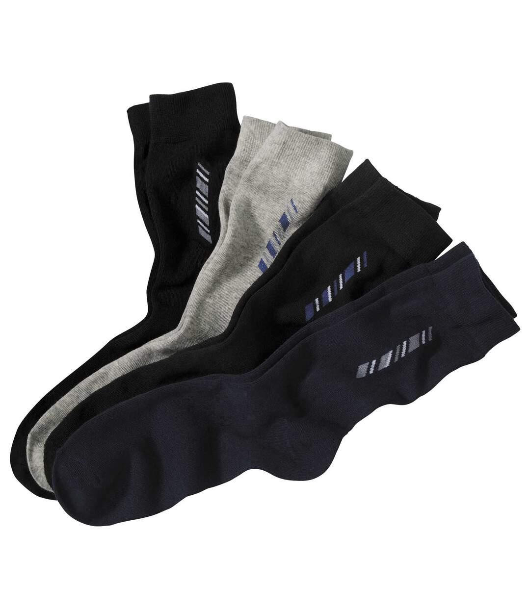Sada 4 párů barevných ponožek Fantazie