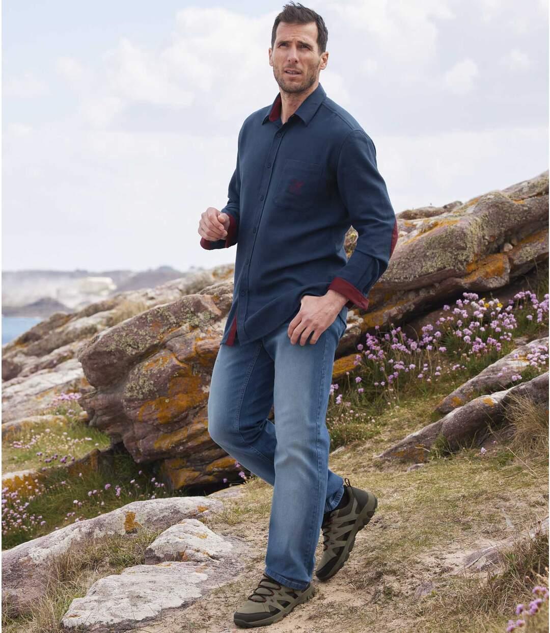 Pohodlné strečové džínsy rovného střihu Regular  Atlas For Men