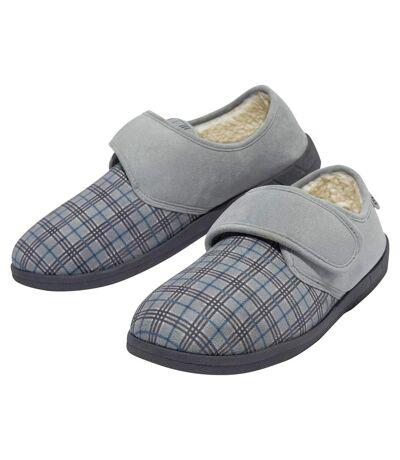 Pánske kockované papuče