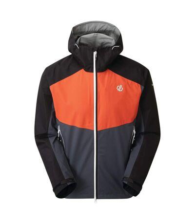 Dare 2B Mens Touchpoint Waterproof Jacket (Trail Blaze Red/Ebony) - UTRG5390