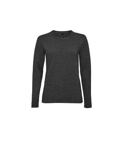 SOLS Womens/Ladies Imperial Long Sleeve T-Shirt (Mouse Grey) - UTPC2906