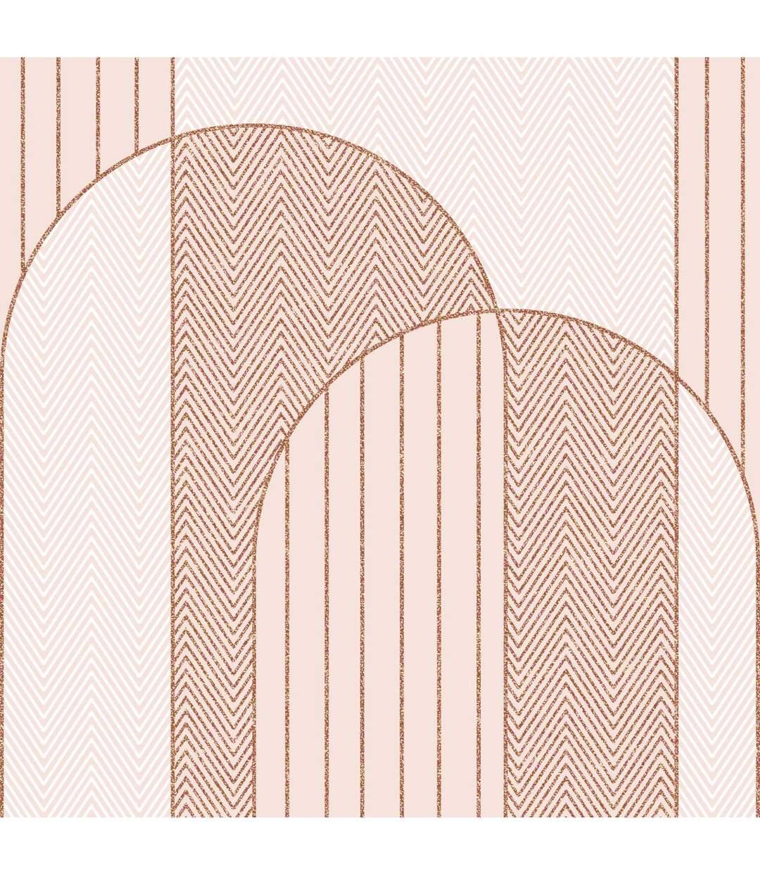 Atmosphera - Parure de lit 2 Personnes 240 x 220 cm Housse de couette avec 2 taies Imprimé Art déco géométrique