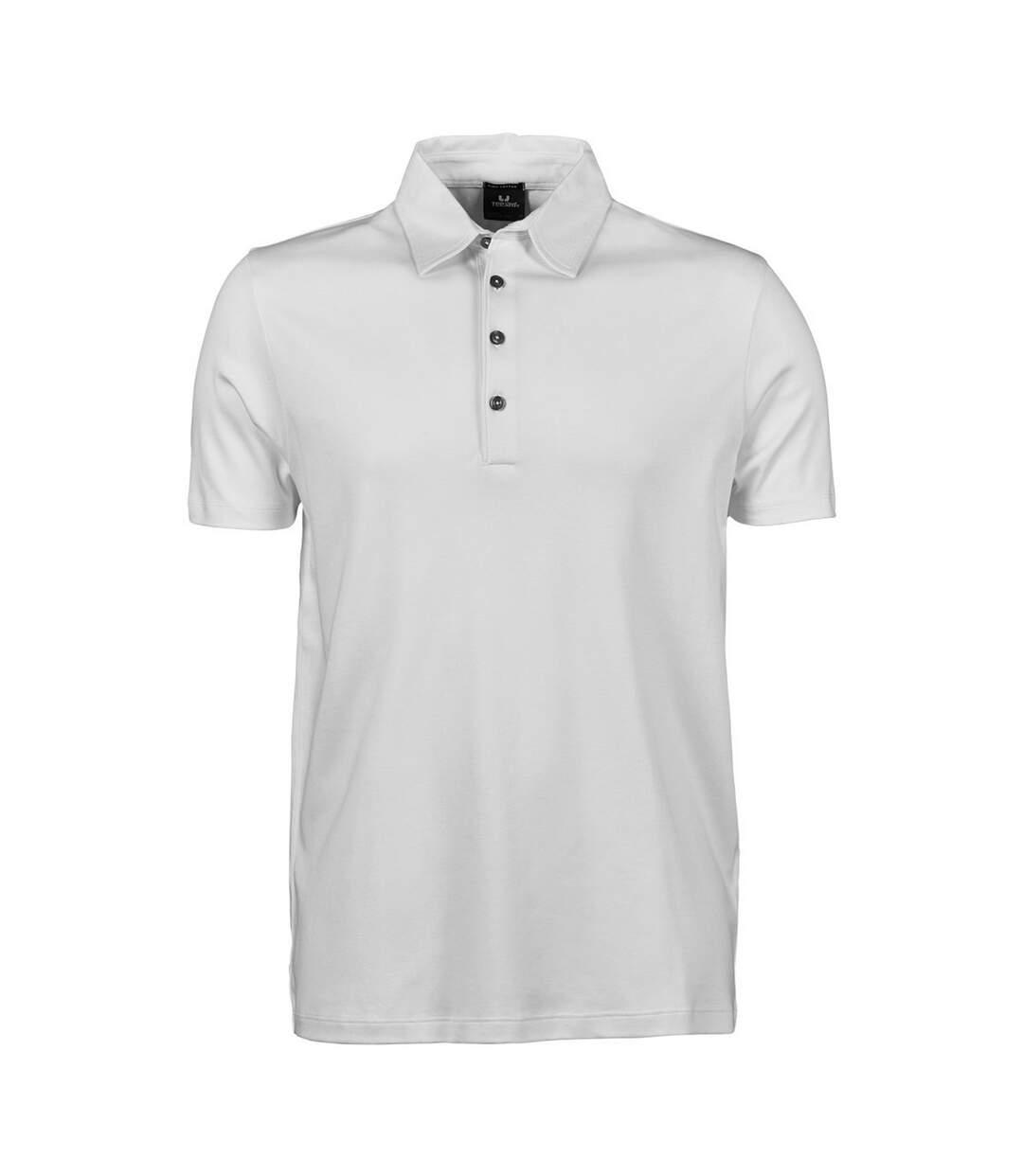 Tee Jays Mens Pima Short Sleeve Cotton Polo Shirt (Black) - UTBC3812