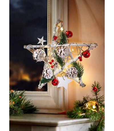 Dekorativer Weihnachtsstern mit Lichterkette