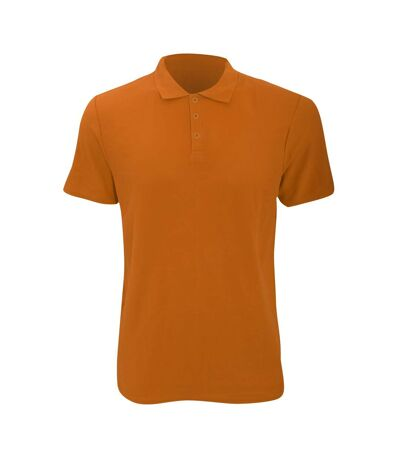 Anvil Mens Fashion Double Pique Plain Polo Shirt (210 GSM) (Mandarin Orange) - UTRW2535