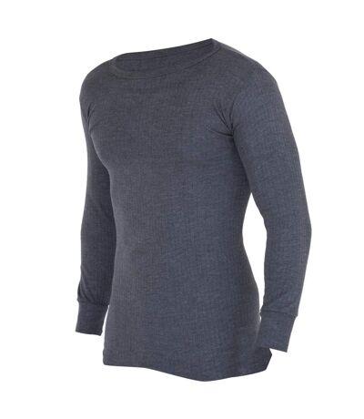 FLOSO -  T-shirt thermique à manches longues (en viscose) - Homme (Charbon) - UTTHERM107