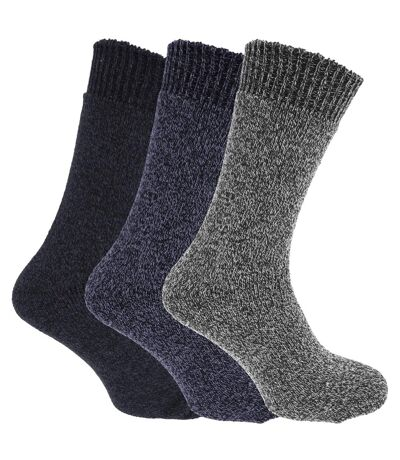 Chaussettes thermiques (lot de 3) - Homme (Tons de bleu) - UTMB430