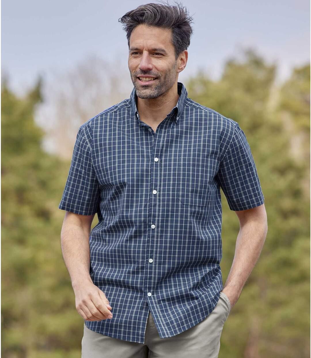 2kockás ingből álló szett Atlas For Men