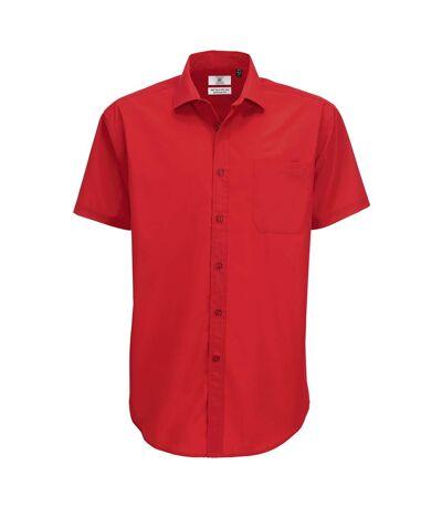 B&C Mens Smart Short Sleeve Shirt / Mens Shirts (Deep Red) - UTBC112