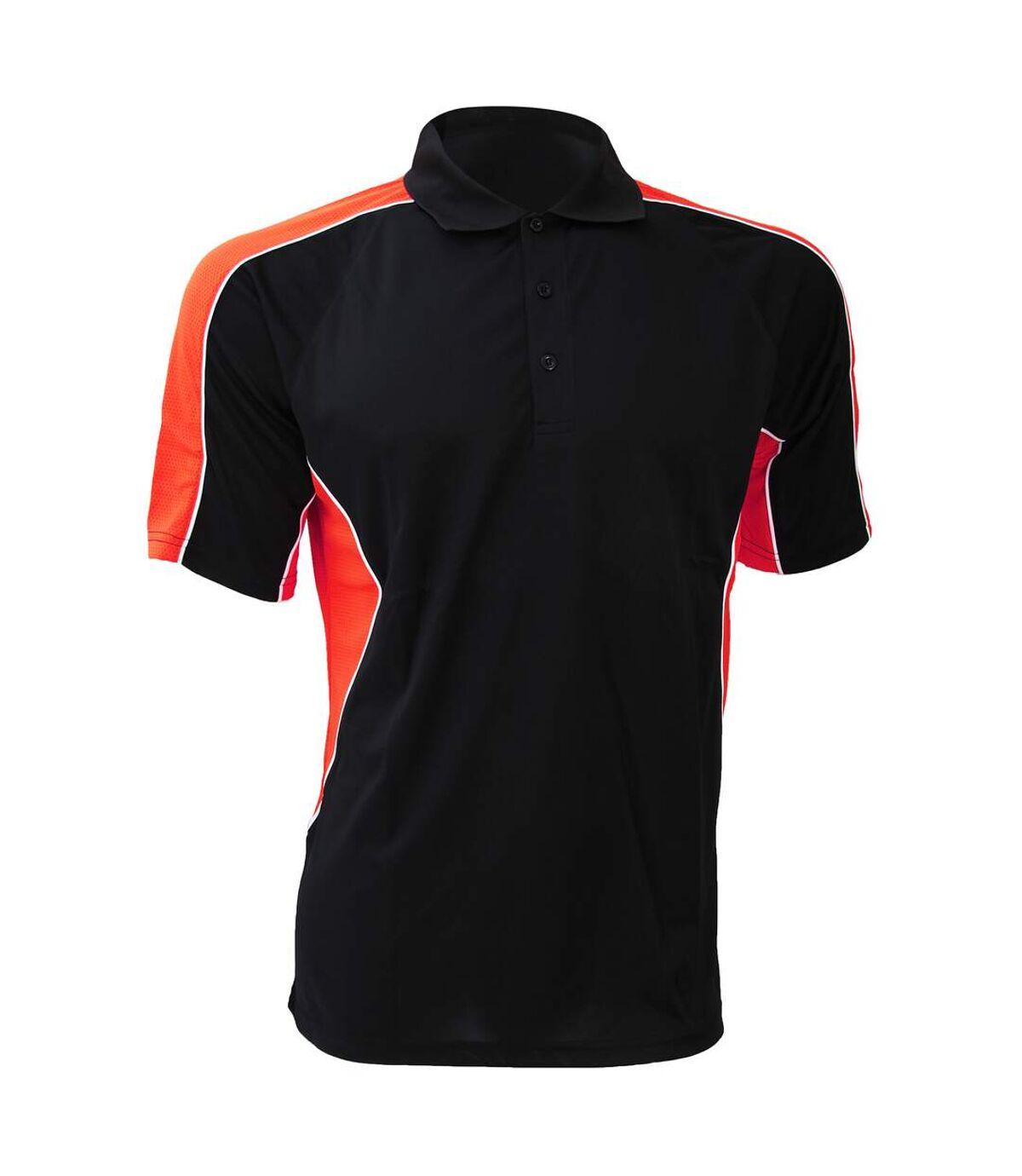 Gamegear® Cooltex Active Mens Short Sleeve Polo Shirt (Black/Red) - UTBC420