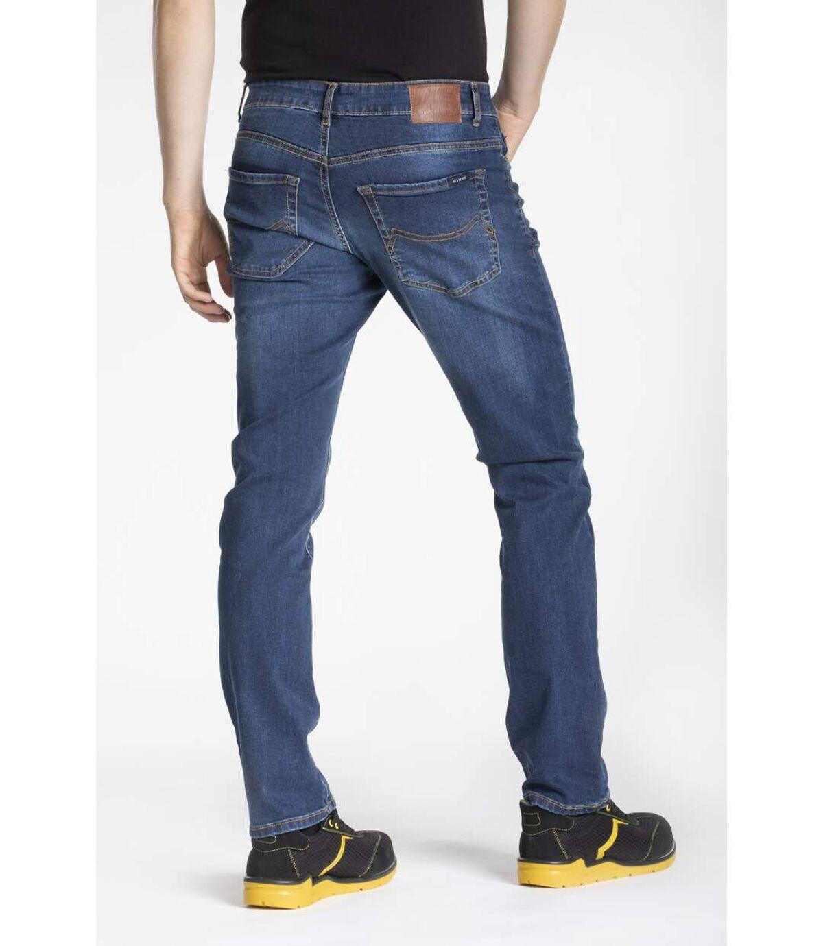 Jeans de travail coupe droite confort denim brossé stretch WORK8