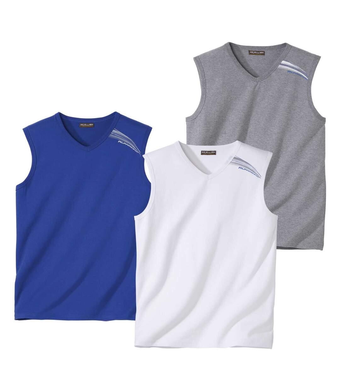 Sada 3 triček bez rukávů Summer Sport