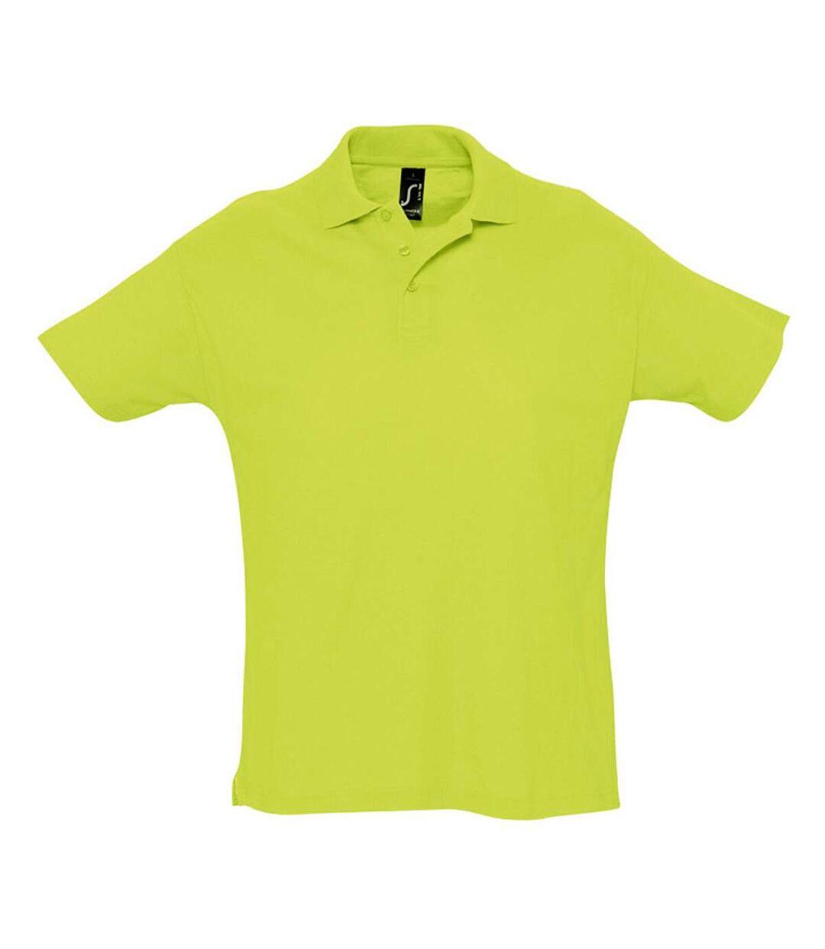 SOLS Mens Summer II Pique Short Sleeve Polo Shirt (Apple Green) - UTPC318
